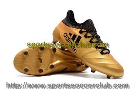 adidas womens x 17 1 leather fg soccer cleats tactile gold metallic core black