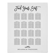 Chic Hand Lettered Seating Chart Zazzle Com Zazzle