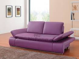contemporary furniture sofa. lilac leather sofa bed sleeper with adjustable arms contemporary furniture