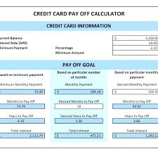 Credit Card Payoff Plan Template Updrill Co