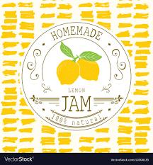 Food Product Label Design Template Jam Label Design Template For Lemon Dessert