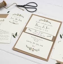 Bespoke Alicia Postcard Wedding Invitation By Wildflower