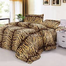 tiger stripes c fleece 4 piece twin full size duvet covers on