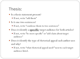 rhetorical analysis compare contrast workshop labeling make a key  3 thesis