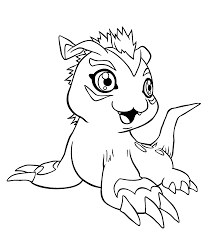 Gomamon From Digimon Anime Coloring Pages