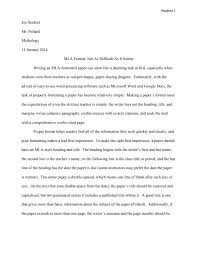 Mla Essay Heading Mla Format And Mla Citation Writing Guide Examples