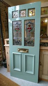 stained glass front door leaded doors exterior for