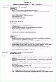 Sample Resume Auto Mechanic 46 Impressive Mechanic Resume Sample In 2019