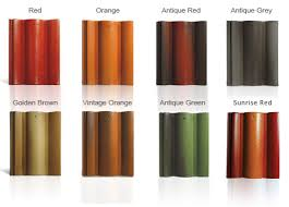 roof tile paint colors