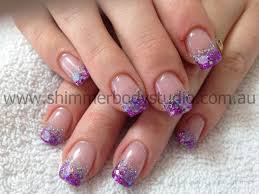Pink Purple And Silver Nail Designs Glitter Nails Gel Nails Purple And Silver Nail Art Gel
