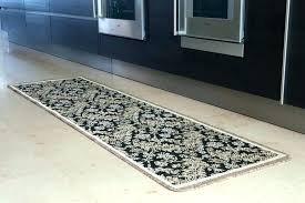 machine washable runner rugs for hallways amazing non slip rug very long black gold rubber backed