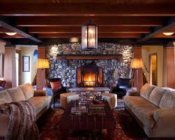 Example of a classic living room design in Minneapolis with a standard  fireplace, a stone