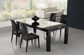 ... Diamond Black Dining Table with Glass Top ...
