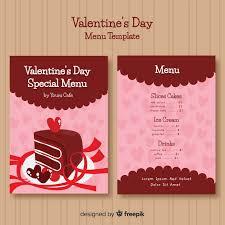 Bolo Template Hand Drawn Cake Valentine Menu Template Vector Free Download