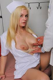 Busty blonde nurse sucking a cock at Busty Girls Blog