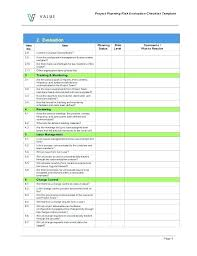 Checklist Sheet Template 8 Project Evaluation Checklist Templates Free Samples