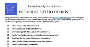 House Sitting Checklist 23 Point Checklist To Prepare For A House Sitter
