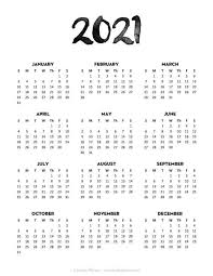 Create calendars with favorite photos, special dates + custom text. 24 Pretty Free Printable One Page Calendars For 2021 Calendar Printables Minimalist Calendar 2021 Calendar