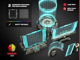sci fi light texture. Sci-fi Holographic Screens / Low Poly Sci Fi Light Texture D