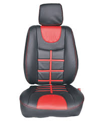 appeal car seat cover for chevrolet beat u sky design in black with red