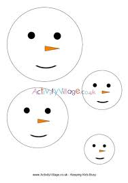 Template Of A Snowman Snowman Face Template In 4 Sizes