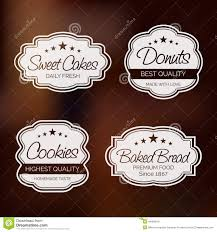 Free Cookies Sticker Design Badge Label And Sticker For Food Shop Stock Illustration