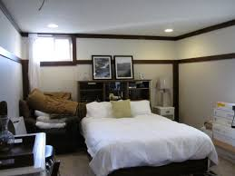 Small Night Stands Bedroom Attractive Dark Bed And White Bedding In Small Basement Bedroom