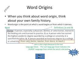 Word Origin Word Origins Where Do Words Come Ppt Download