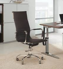 sleek office chairs. Sleek High Back Executive Chair In Black Leatherette By Silver Arrow Office Chairs