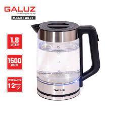 Ấm điện siêu tốc thủy tinh kiêm bình pha trà Galuz GK-01 dung tích 1.8 lít  - Hàng chính hãng   M2P Shop