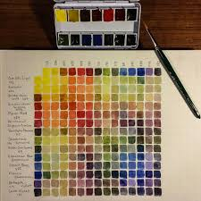 Watercolor Combination Chart Completed Color Combination Chart For Newly Poured Daniel