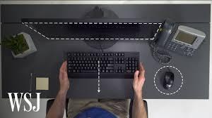 <b>Ergonomics</b> Expert Explains How to Set Up Your <b>Desk</b> | WSJ ...
