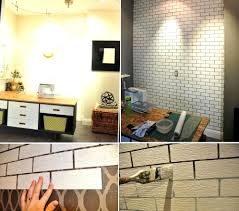 fantastic diy faux brick fireplace diy brick wall interior faux rendering jpg