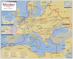 world war ii the european theater map  mapscom