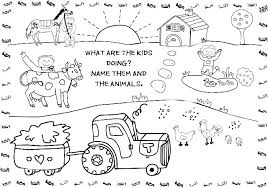 Farm Animals To Color Farm Animals Coloring Sheet Page Animal Pages