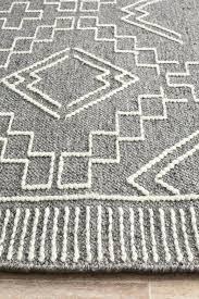 basalt charcoal grey and ivory tribal stitch flatweave rug flat weave rugs flat weave wool rugs