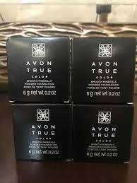 Avon Smooth Minerals Powder Foundation Light Beige Avon True Color Smooth Minerals Loose Powder Foundation Light Beige Lot Of 4