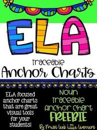 Ela Anchor Chart Traceable Nouns By Miss Lees Little Learners