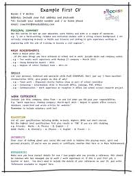 Modest Design How To Write Your First Resume How To Write Your First