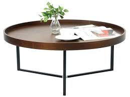 round tray coffee table living room tables lovely walnut round tray table butler tray coffee table