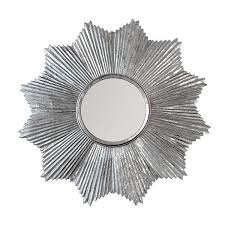 32 decors starburst wall mirror in antiqued silver galvanized iron metal wall art silver flake patina accent wall decor decors