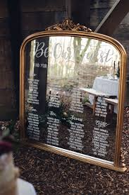 Mirror Calligraphy Seating Plan Table Chart Beauty And The