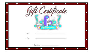 Mothers Day Gift Certificate 10 Template Ideas