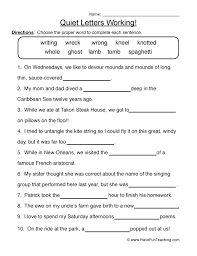 Silent Letter Worksheets Free Worksheets Library | Download and ...