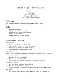 Resume Fashion Merchandising Resume Samples