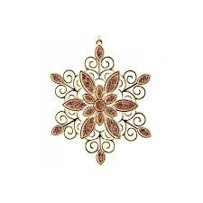Новогоднее <b>украшение Crystal Deco</b> «<b>Снежинка</b> кружевная ...