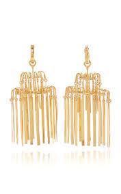 ellery vail xl sheet metal chandelier earrings gold