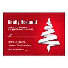 Party Rsvp Template Holiday Party Rsvp Template With Christmas Tree Zazzle Com