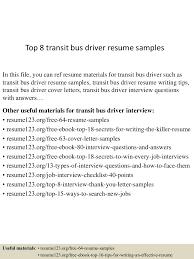 Top8transitbusdriverresumesamples 150530084725 Lva1 App6892 Thumbnail 4 Jpg Cb 1432975688