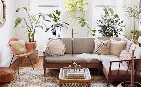 relaxing boho chic living room idea